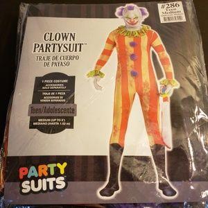NIB Clown Partysuit Teen Medium